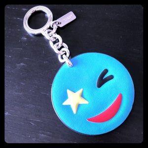 COACH NeW Star ⭐️ wink emoji keychain charm